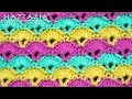 How to Crochet Offset Shell Stitch by Naztazia - Good for Blanket & Scarf