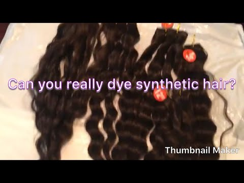 Synthetic Hair Vs. Hair Dye