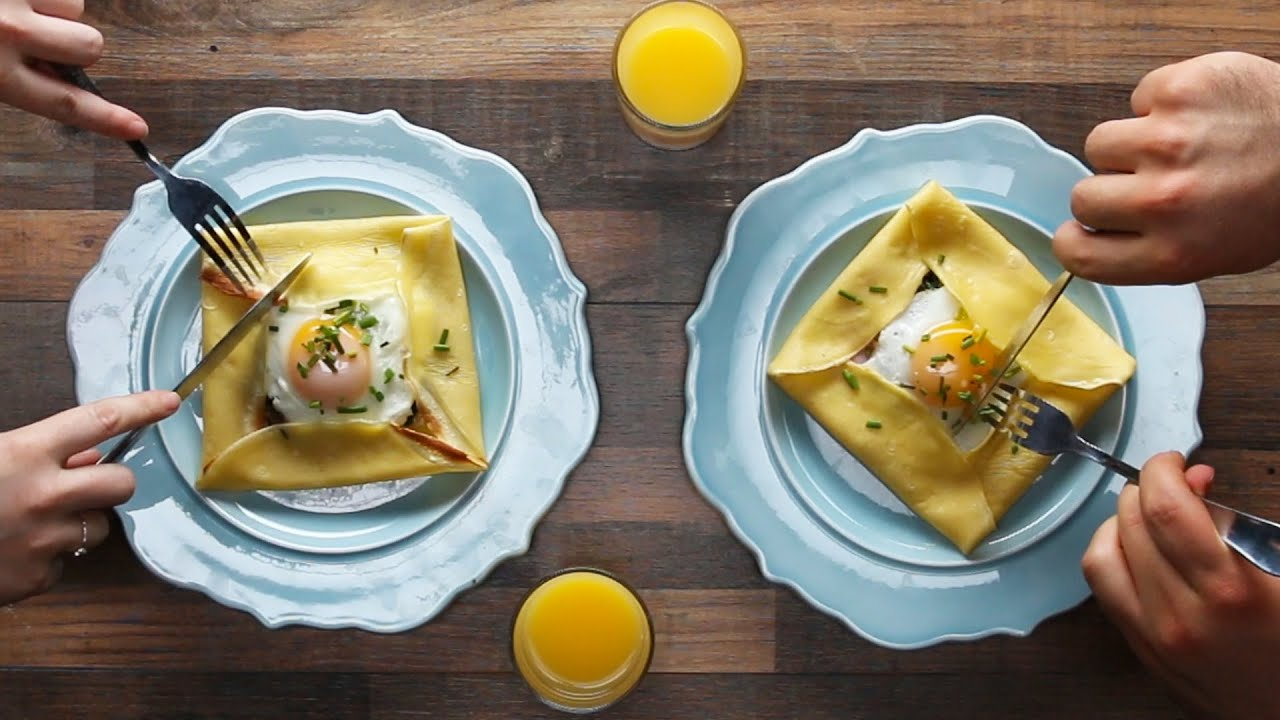 maxresdefault - Savory Breakfast Crepe Pockets