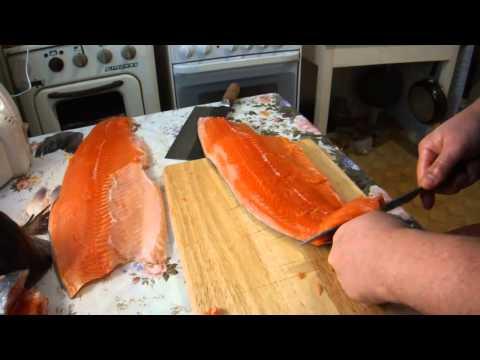 Часовой засол красной рыбы