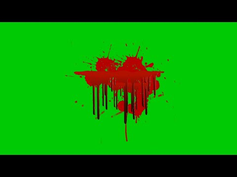 blood green screen effect animations