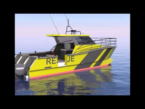 9m Catamaran Rescue Vessel - Naval Architecture and Marine Solutions