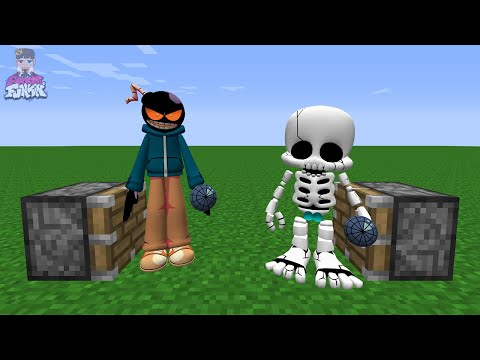 Whitty + BF Skeleton = ??? | This is Real FNF in Minecraft