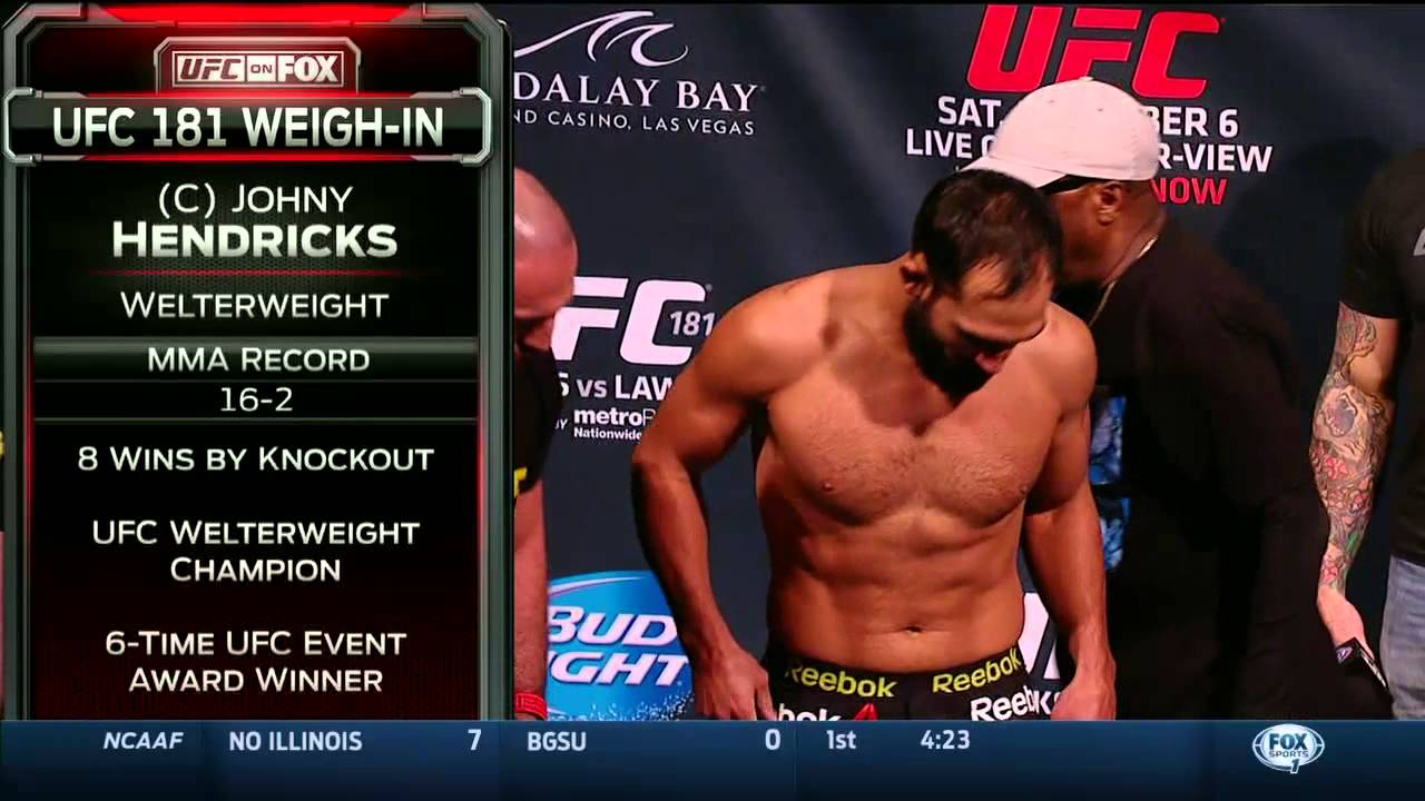 UFC 181: Johny Hendricks vs  Robbie Lawler Face-Off