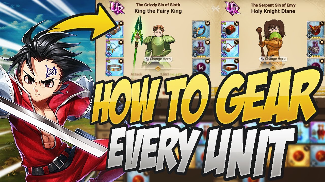 This Is How You Gear Every Unit In Grand Cross Seven Deadly Sins Grand Cross Youtube