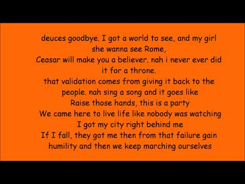 MACKLEMORE & RYAN LEWIS - CAN'T HOLD US FEAT. RAY DALTON(lyrics)