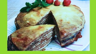 Блинно - творожный пирог