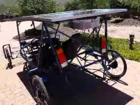 100% solar car 4 x 48 volt 1000 watt electric