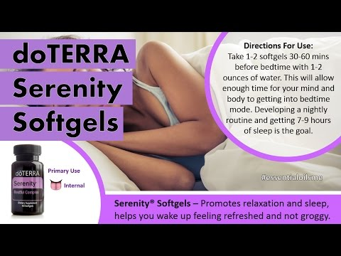 Sleep Like A Baby With doTERRA Serenity Softgels