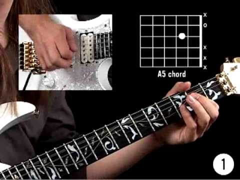 How To Play Guitar - Rock Lessons for Beginners - A Minor Rhythm