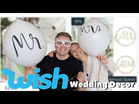 we bought WISH wedding decor for OUR wedding...