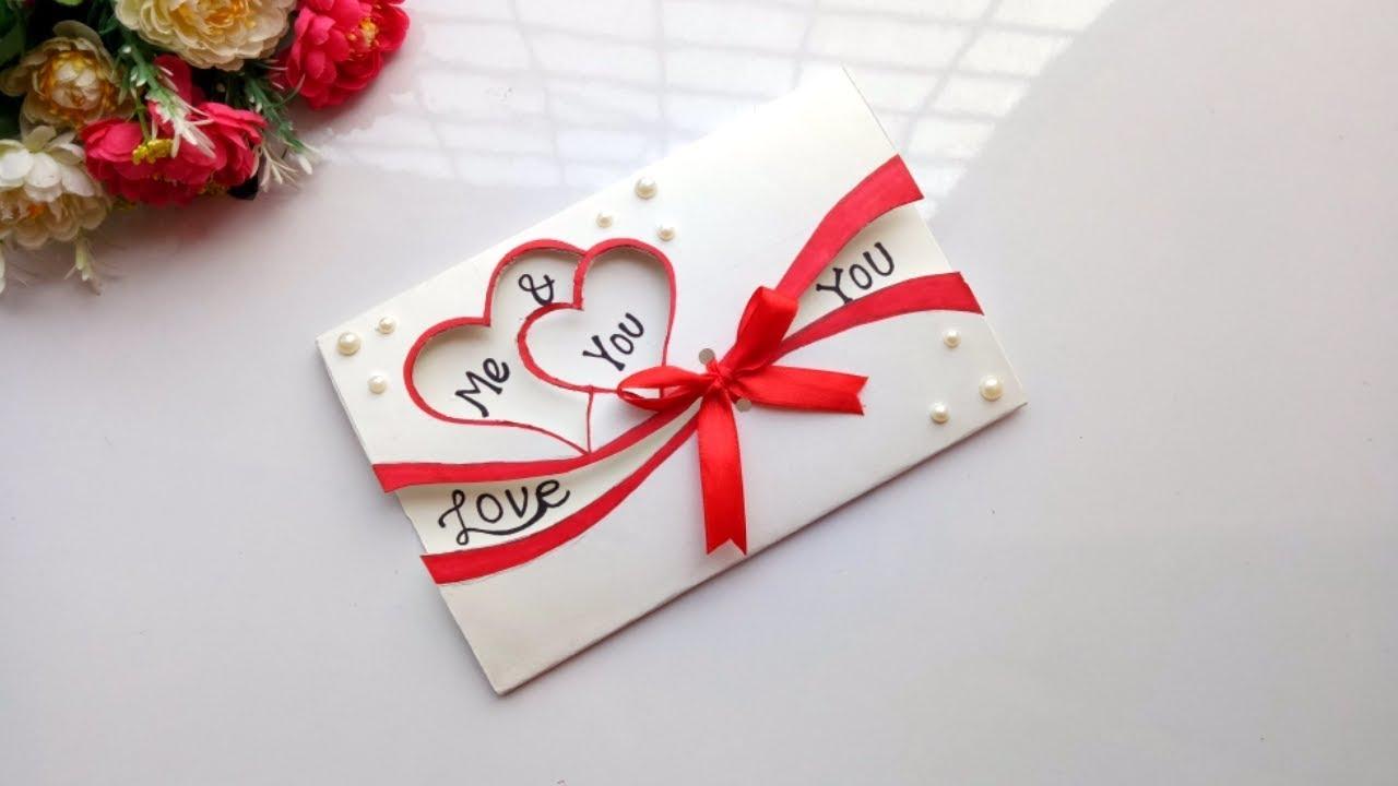 Beautiful Handmade Valentine's Day Card Idea / DIY ...
