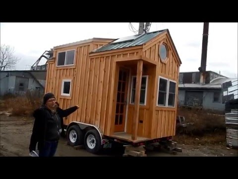 Tour 8x16 Tiny House On Wheels Equipped For On Grid