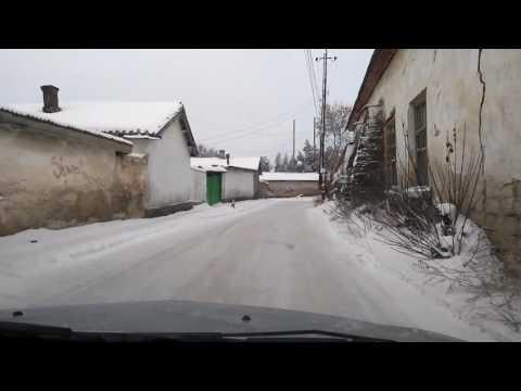 Последний день 2016г, зима, г.Белогорск Крым, снежные улицы