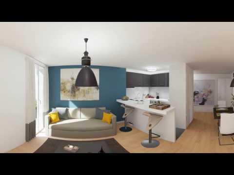 """Visite panoramique d'un appartement 3 pièces - Résidence """"5 rue Erard"""""""