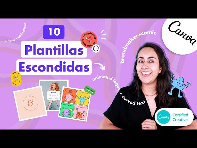 Cómo buscar 10 plantillas escondidas en Canva con palabras claves - Tutorial de Canva en español