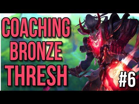 Coaching a Bronze Thresh | Coaching Lesson #6 - League of Legends