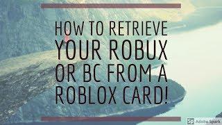 COME RECUPERARE IL TUO ROBUX O BC DA A ROBLOX CARD!