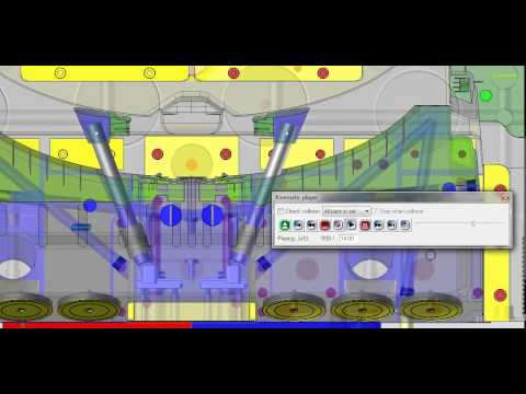TopSolid lifter in slide simulation
