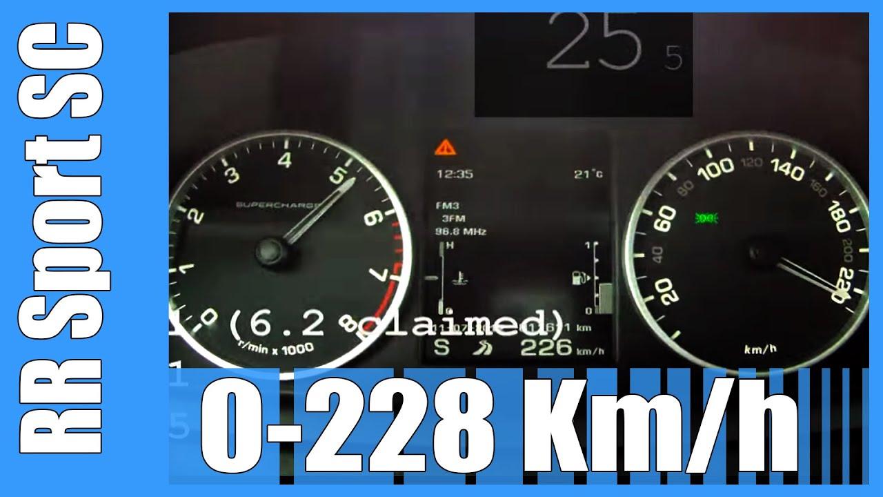 510 HP Range Rover Sport 5 0 V8 Supercharged 0 228 km h SICK