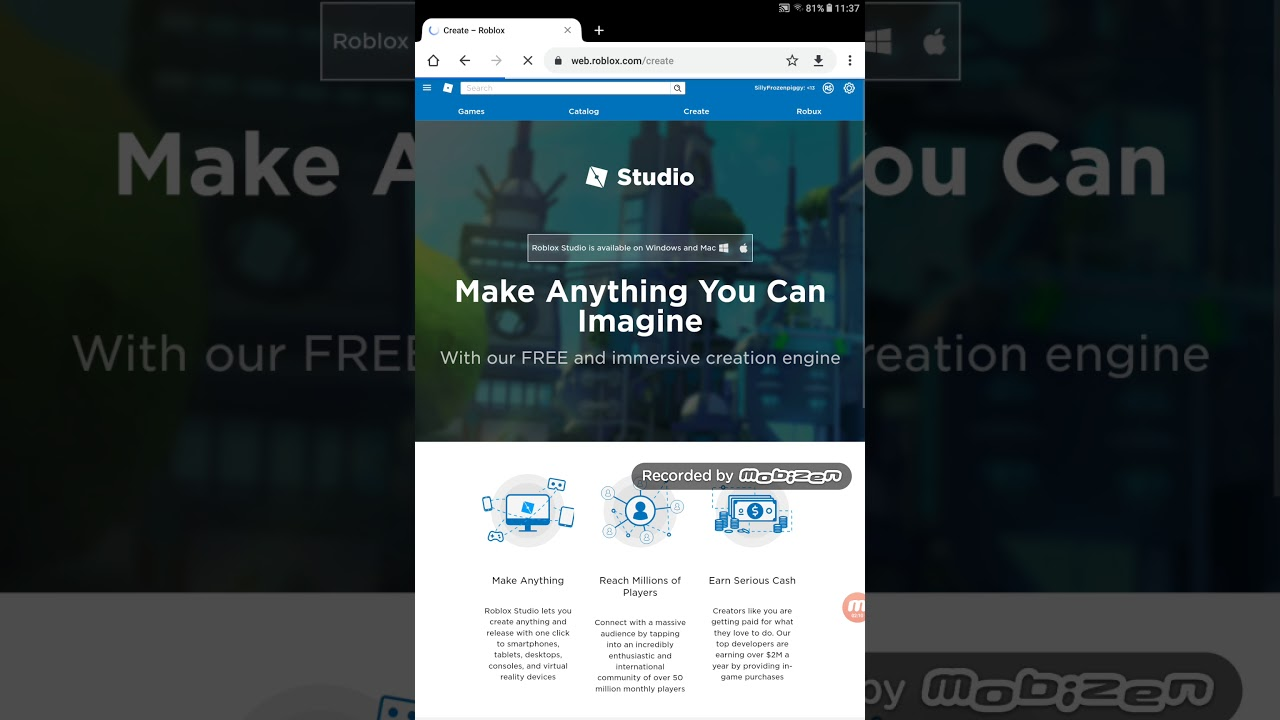 How to get roblox creator studio on android YouTube