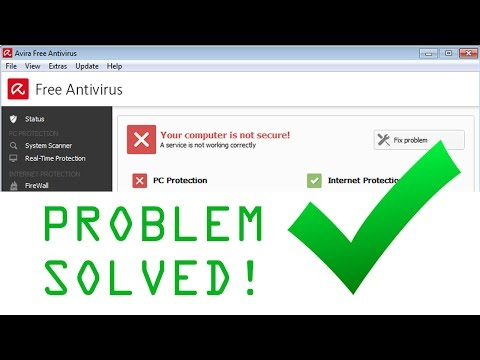 """AVIRA How to fix """"Your Computer Is Not Secure"""""""