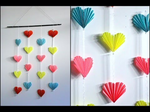 Heart Wall Hanging With Paper || Wall Decoration || Paper Craft || Inspiration Kidzone