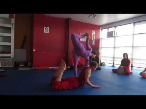 Artistic Yoga™ in Pairs Yoga Devi and Hanuman Deva welcome Rama Jyoti Vernon to Salt Lake City