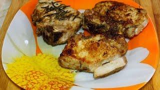 Готовим стейк из свинины в оригинальном соусе.