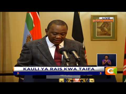 President Kenyatta's address to the nation ahead of Thursday Repeat Poll
