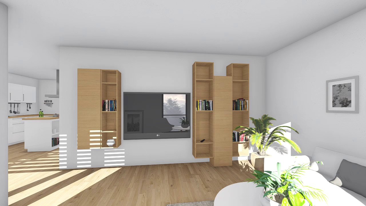 virtueller rundgang durch 3 zimmer wohnung im projekt ditzingen cube d youtube. Black Bedroom Furniture Sets. Home Design Ideas