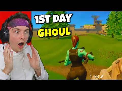 reacting to first time using ghoul trooper... (old fortnite)