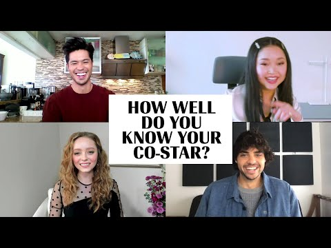 The Cast of 'To All The Boys' Plays 'How Well Do You Know Your Co-Star?' | Marie Claire