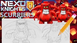 LEGO Nexo Knights SCURRIERS Drawing Showcase!