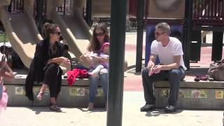 Jessica Alba Rebecca Gayheart and Eric Dane at Coldwater Canyon Park at the same tim