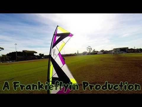 Revolution Reflex XX kite flying Urban Oval (360 Intro + FF end) with Frankie