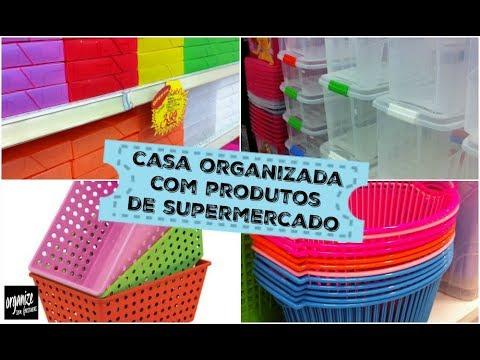 CASA ORGANIZADA COM PRODUTOS DE SUPERMERCADO E LOJAS DE