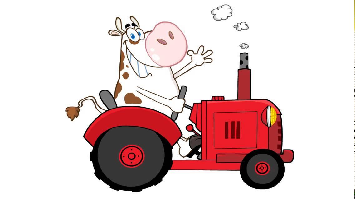 Comment dessiner une vache conduire un tracteur youtube - Dessiner une vache ...
