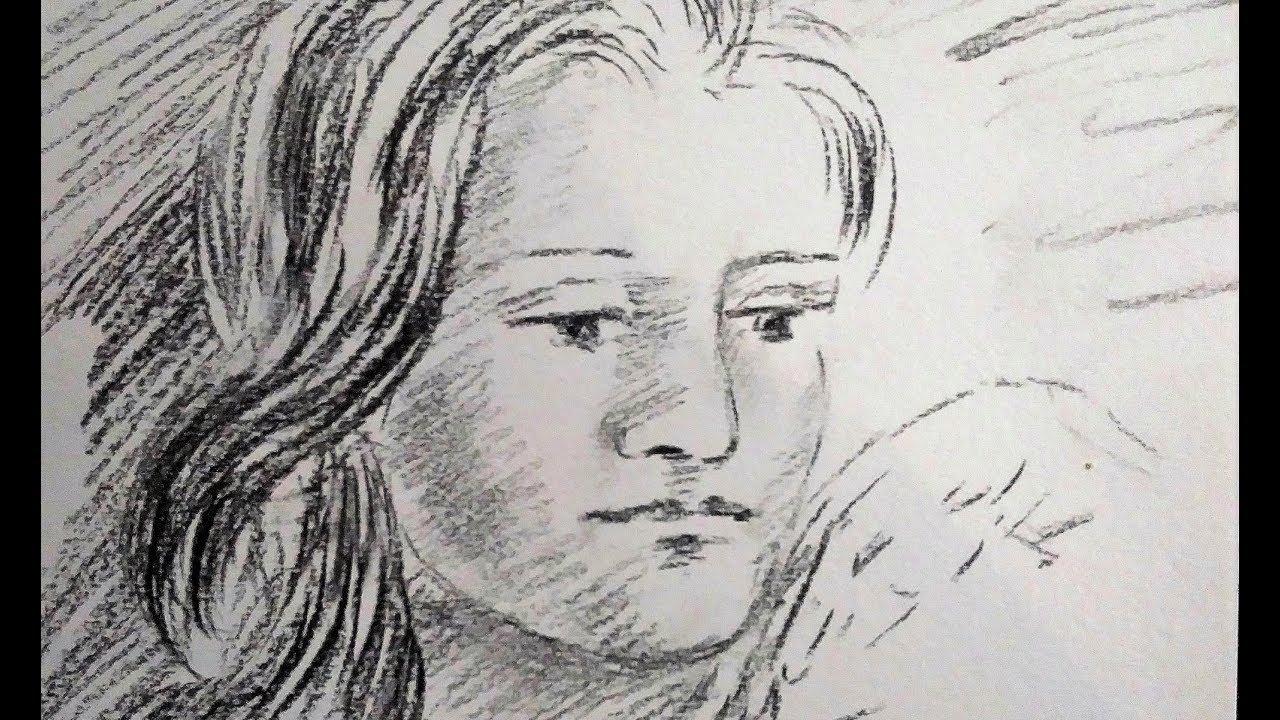 Comment Dessiner Un Visage De Femme Portrait Féminin Au Fusain En Temps Réel