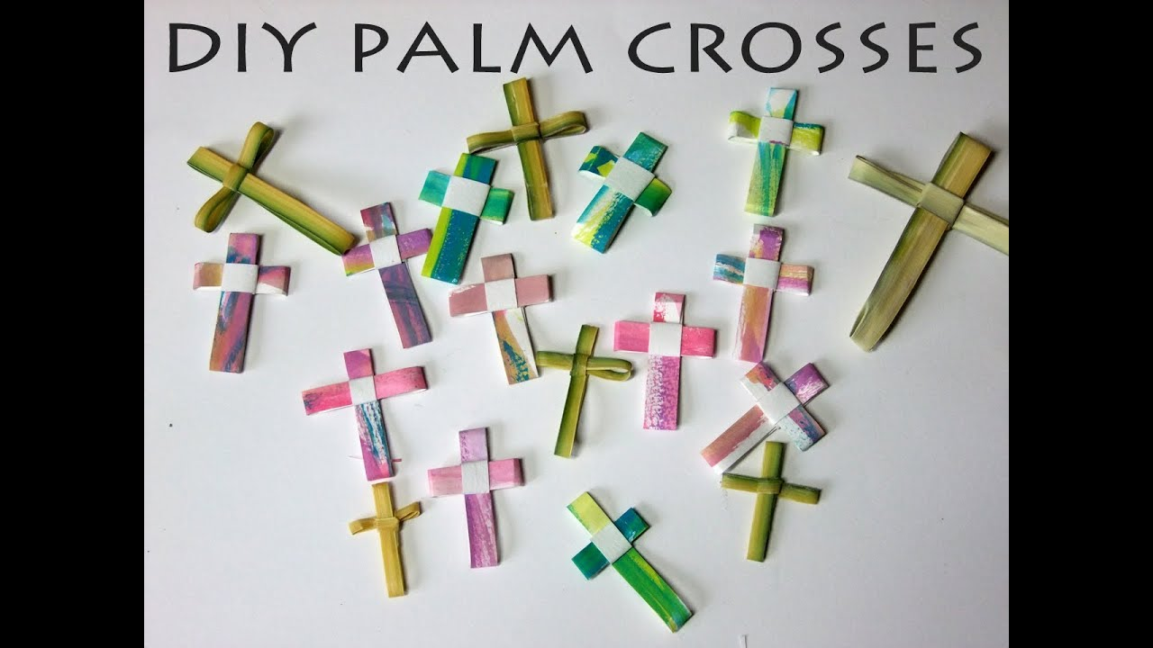 Diy Palm Crosses From Simple Art Supplies Watercolor Paper Pen