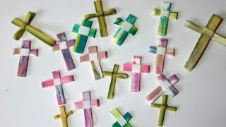 DIY Palm Crosses - from simple art supplies, watercolor, paper, pen