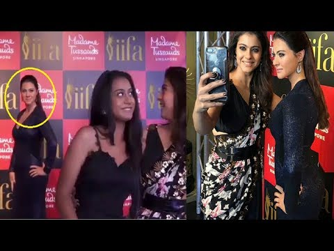 Kajol Devgan Uncovers her Wax Statue at Madame Tussaud with Nyasa WATCH VIDEO FCN