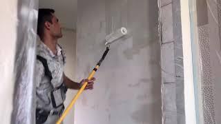 Шпаклевка стен валиком