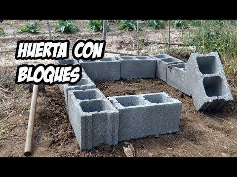 Como hacer una huerta con bloques de hormig n - Terrazas rusticas ...