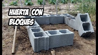 Como Hacer una Huerta con Bloques de Hormigón | Experimentos
