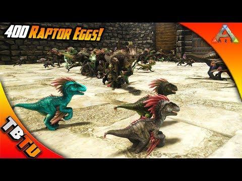 400 RAPTOR EGGS! RAPTOR BREEDING AND COLOR MUTATIONS! Ark Survival Ragnarok mutation zoo