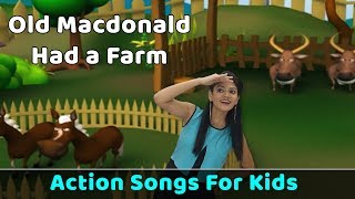 Old Macdonald Had a Farm Poem | Action Songs For Kids | Nursery Rhymes With Actions | Baby Rhymes