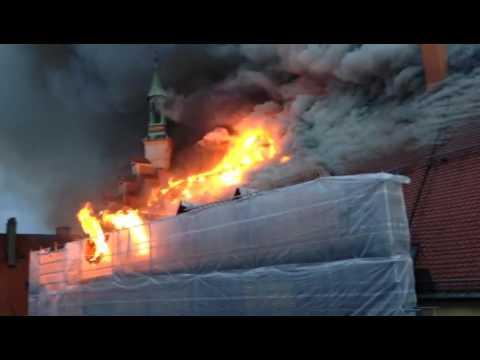 Brand im Rathaus in Straubing - Video 4