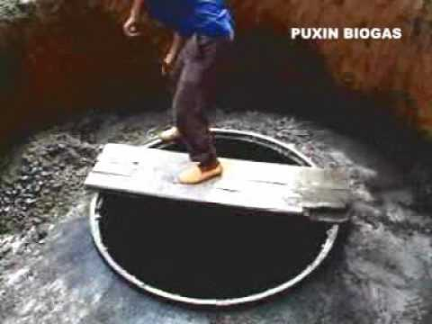 CONSTRUCTION MANUAL for Puxin 10m3 hydraulic pressure type concrete biogas digester