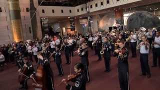 Christmas Flash Mob | Air Force Band at National Air & Space Museum